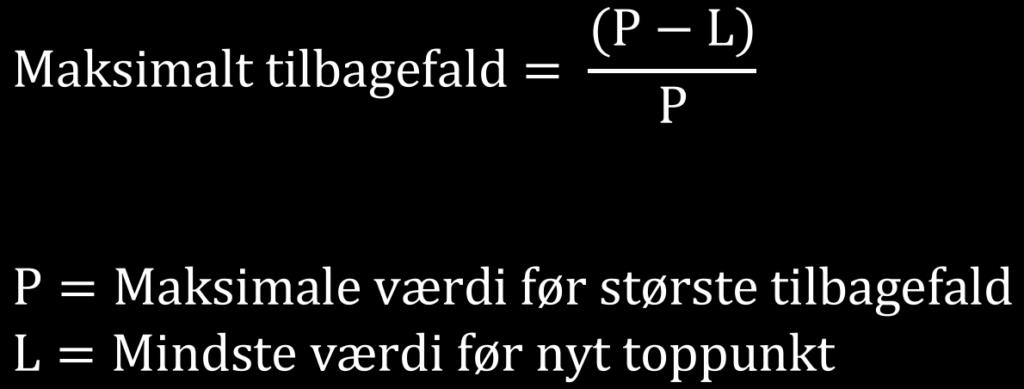 Maksimalt tilbagefald formel