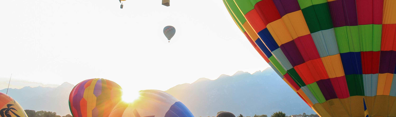 Farvede luftballoner