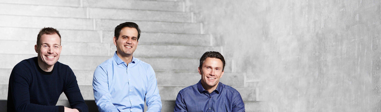 Stifterne af Falcon Invest & Falcon Fondsmæglerselskab - Rasmus Sommerskov, René Engell, Thomas Knudsen