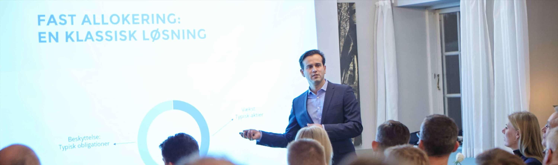 seminar med porteføljemanager i Falcon Invest Rene Engell